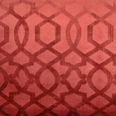 A8592 Spice Fabric: C45, MEDALLION, VELVET, GEOMETRIC, LATTICE, RED, RED MEDALLION, RED VELVET, RED GEOMETRIC, RED LATTICE, RED FABRIC, VELVET MEDALLION, VELVET GEOMETRIC, VELVET LATTICE, GEOMETRIC MEDALLION