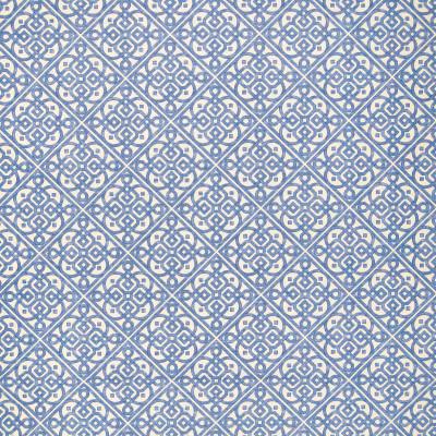 A8635 Aquarium Fabric: C46, BLUE, WHITE, GEOMETRIC, SCROLL, LATTICE, WAVERLY
