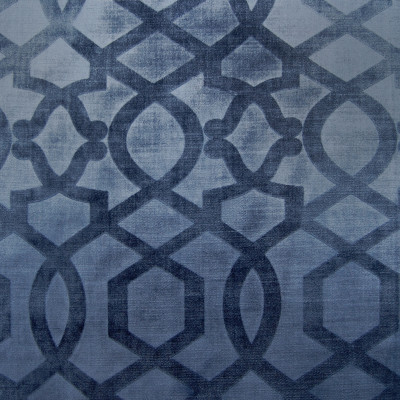 A8653 Lapis Fabric: C46, TONAL STAMPED VELVET, GEOMETRIC,LATTICE