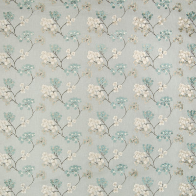 A8671 Caribe Fabric: C97, C47, BLUE, BLUE FABRIC, BLUE EMBROIDERY, EMBROIDERY, FLORAL EMBROIDERY, ASIAN, ASIAN FABRIC, ASIAN EMBROIDERY, FLORAL, FLORAL FABRIC, ASIAN FLORAL