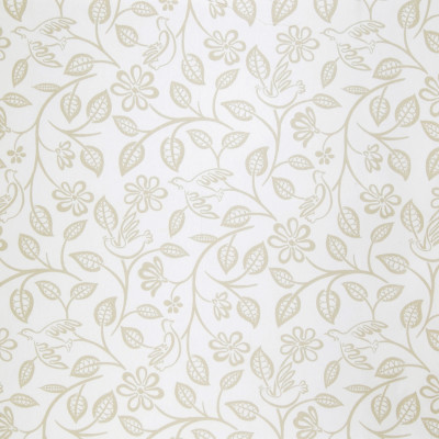 A8704 Dove Fabric: C48, WHITE, PRINT, NEUTRAL, BIRD, DOVE, FLOWERS, LOVEBIRDS