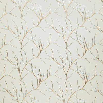 A8721 Rain Fabric: C48, EMBROIDERY, LINEN LOOK, BRANCH, ASIAN, PUSSY WILLOW