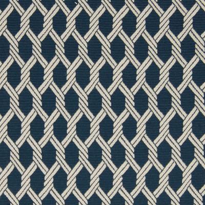 A9733 Marine Fabric: D17, C72, BLUE BACKGROUND, NAVY, WOVEN ROPE, ROPE LIKE, WHITE, NAUTICAL ROPE, BLUE LATTICE, BLUE GEOMETRIC, BLUE MEDALLION, NAUTICAL