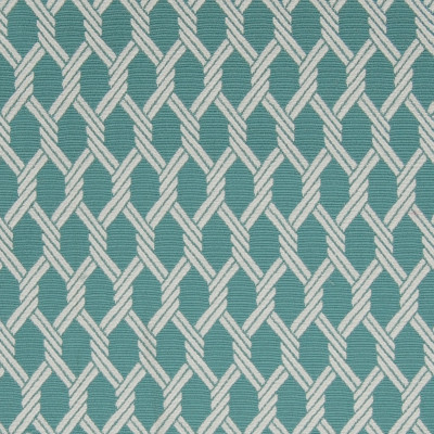A9751 Island Fabric: C72, TEAL BACKGROUND, TEAL, WOVEN ROPE, ROPE LIKE, WHITE, NAUTICAL ROPE, TEAL LATTICE, BLUE GEOMETRIC, BLUE MEDALLION, TEAL GEOMETRIC, TEAL MEDALLION, NAUTICAL