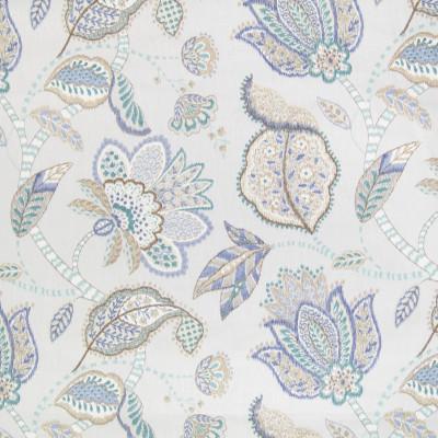 B2296 Breeze Fabric: D01, BLUE FLORAL, BLUE FLORAL PRINT, LAVENDER FLORAL, LAVENDER FLORAL LINEN, LAVENDER PRINT