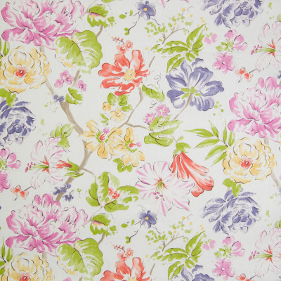 B2301 Garden Fabric: D01, PURPLE FLORAL, RED FLORAL, YELLOW FLORAL PURPLE ROSE, RED ROSE
