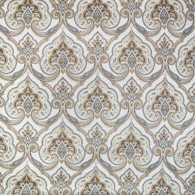 B2331 Sandstone Fabric: D15, D02, NEUTRAL MEDALLION, METALLIC MEDALLION, MEDALLION COTTON, BEIGE MEDALLION, KHAKI MEDALLION, OFF WHITE MEDALLION