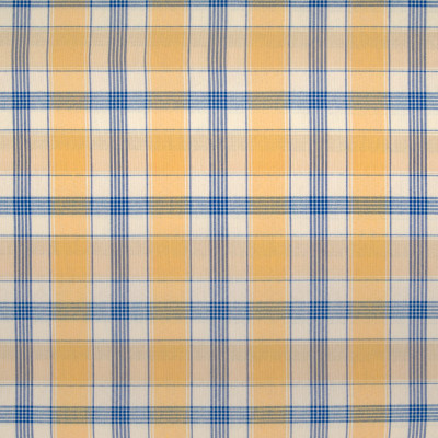 B2596 Cottage Fabric: D07, YELLOW COTTON PLAID, YELLOW AND BLUE COTTON PLAID,WOVEN