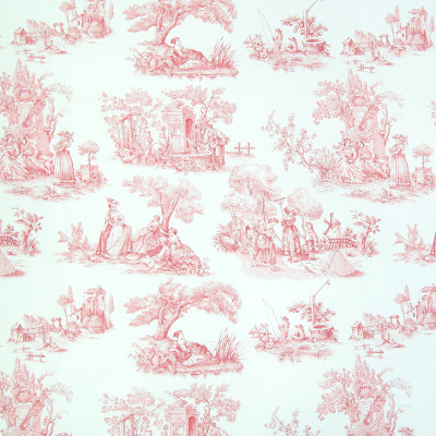 B2627 Scarlet Fabric: D07, RED TOILE, RED COTTON TOILE