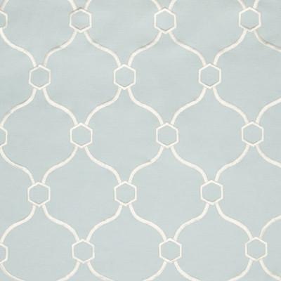 B2749 Mist Fabric: E09, D10, SKY BLUE MEDALLION EMBROIDERY, LIGHT BLUE MEDALLION EMBROIDERY, SPA BLUE EMBROIDERY,LATTICE