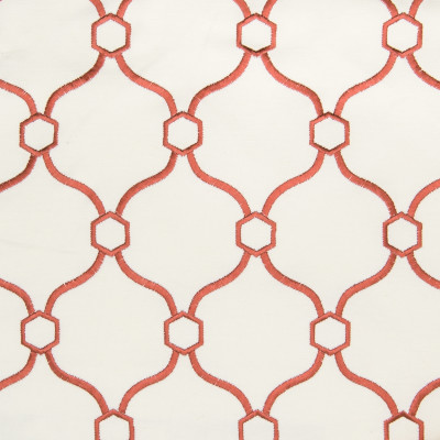 B2786 Lipstick Fabric: E08, D10, RED MEDALLION EMBROIDERY, CANDY RED EMBROIDERY, GEOMETRIC EMBROIDERY,LATTICE