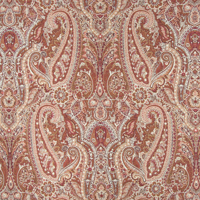 B2793 Rust Fabric: D10, RED PAISLEY JACQUARD, RED SCROLL