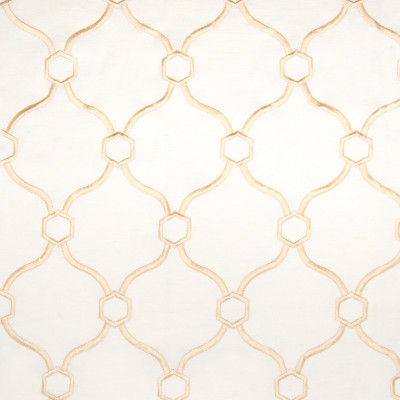 B2794 Golden Fabric: E06, D10, GOLD MEDALLION EMBROIDERY, GOLD GEOMETRIC FAUX LINEN EMBROIDERY