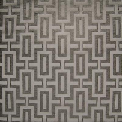 B3143 Greystone Fabric: D16, GRAY GEOMETRIC DAMASK, GRAY SQUARE DAMASK, GREY SQUARE DAMASK, SILVER GEOMETRIC DAMASK, TONE ON TONE,WOVEN