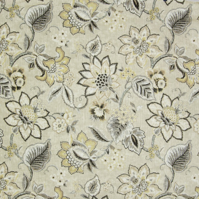 B3238 Flax Fabric: D17, LINEN FLORAL, GOLD FLORAL, GOLD LINEN, LINEN PRINT, GOLD PRINT, FLORAL PRINT, YELLOW LINEN, YELLOW FLORAL, VINTAGE PRINT, VINTAGE FLORAL, FADED, FADED FABRIC, FADED FLORAL, FADED DESIGN