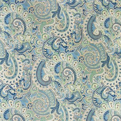 B3260 Monsoon Fabric: D18, BLUE SCROLL PRINT, LIGHT BLUE SCROLL PRINT