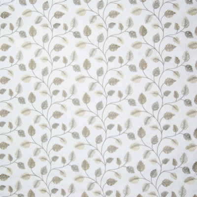B3284 Winter Fabric: D18, SILVER LEAF EMBROIDERY, GRAY LEAF EMBROIDERY, TAUPE LEAF EMBROIDERY,FOLIAGE