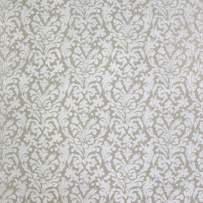 B3287 Flax Fabric: D18, METALLIC MEDALLION, BEIGE MEDALLION, NEUTRAL MEDALLION, TAUPE MEDALLION