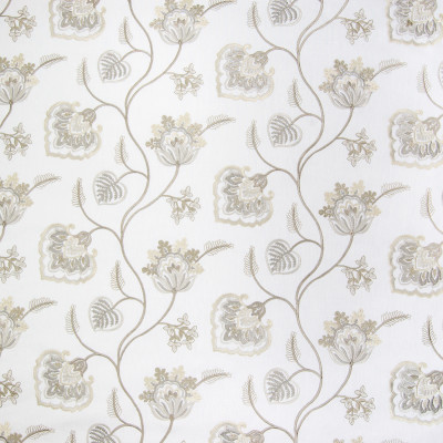 B3293 Ivory Fabric: D18, FLORAL EMBROIDERY, BEIGE FLORAL EMBROIDERY, KHAKI FLORAL EMBROIDERY