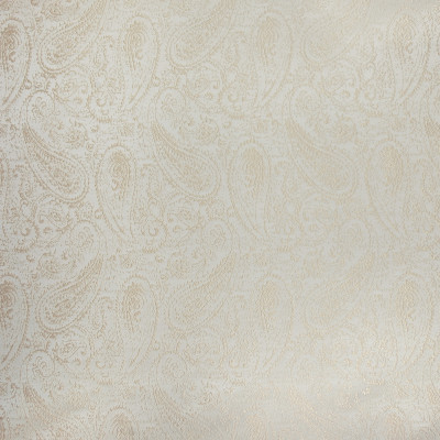 B3301 Glimmer Fabric: D18, CREAM COLORED PAISLEY, OFF WHITE PAISLEY, IVORY PAISLEY