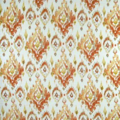 B3308 Sierra Fabric: D18, ORANGE IKAT PRINT, TANGERINE IKAT