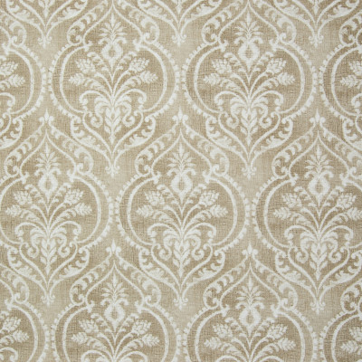 B3313 Sand Fabric: D18, BROWN MEDALLION PRINT, BROWN SCROLL PRINT
