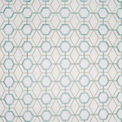 B3332 Summer Fabric: D18, BLUE GEO, BLUE EMBROIDERY, BLUE AND GREEN GEO, BLUE AND GREEN EMBROIDERY,LATTICE