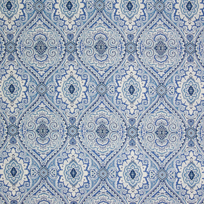B3341 Ocean Blue Fabric: D18, BLUE MEDALLION PRINT, BLUE SCROLL PRINT, BLUE PRINT, BLUE LATTICE PRINT
