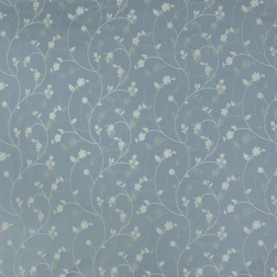 B3347 Azure Fabric: D18, BLUE WOVEN FLORAL, MEDIUM BLUE FLORAL