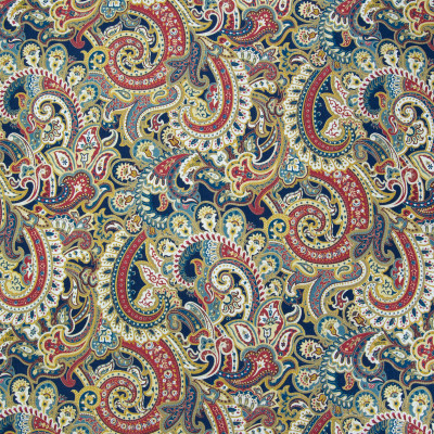 B3350 Sapphire Fabric: D18, BLUE FLORAL PRINT, NAVY FLORAL PRINT, NAVY SCROLL PRINT, SAPPHIRE SCROLL PRINT