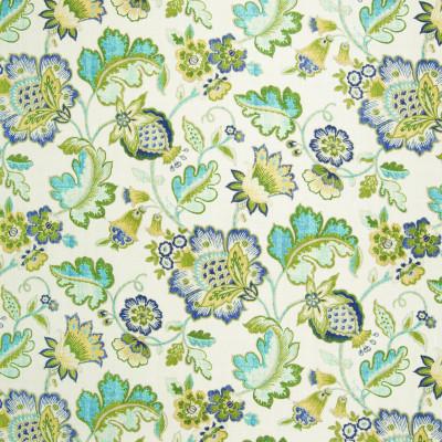 B3352 Caribbean Fabric: D18, GREEN FLORAL PRINT, TEAL FLORAL PRINT