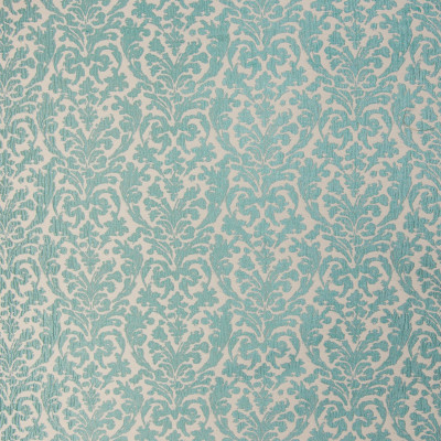 B3369 Aqua Fabric: D18, SKY BLUE METALLIC MEDALLION, LIGHT BLUE METALLIC SCROLL, SPA BLUE MEDALLION