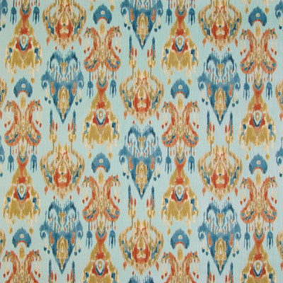 B3371 Azure Fabric: D18, BLUE IKAT, BLUE AND ORANGE IKAT, TEAL IKAT,SOUTHWEST