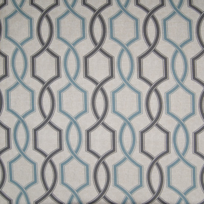 B3388 Seafoam Fabric: D18, BLUE LATTICE PRINT, GRAY LATTICE PRINT, GRAY GEOMETRIC PRINT, BLUE GEOMETRIC PRINT