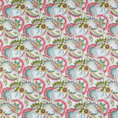 B3392 Flower Box Fabric: D18, PINK AND GREEN FLORAL PRINT, GREEN FLORAL PRINT, PINK FLORAL PRINT,