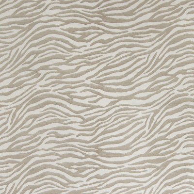 B4299 Taupe Fabric: D39, ANIMAL STRIPE, ZEBRA, ZEBRA STRIPES, WHITE, NEUTRAL, JACQUARD, WOVEN ANIMAL, TAUPE ANIMAL, SKINS, SKIN