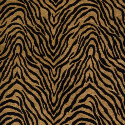 B4314 Goldenrod Fabric: D39, BLACK ANIMAL STRIPE, BLACK ANIMAL STRIPES, ANIMAL, STRIPES, ANIMAL SKIN, ANIMAL PATTERN, ANIMAL PRINT, CHENILLE ANIMAL, WOVEN, BLACK AND BROWN ANIMAL SKIN, SKINS, SKIN
