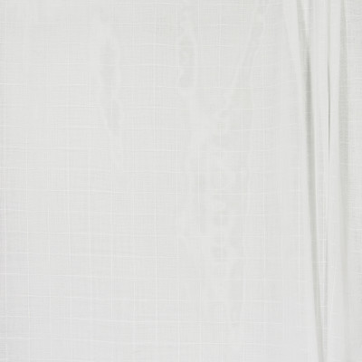 B4372 White Fabric: D41, WHITE CHECK SHEER, WHITE PLAID SHEER, WHITE WOVEN SHEER, CHECK SHEER, WOVEN SHEER,  INHERENTLY FLAME RETARDANT, INHERENTLY FIRE RETARDANT