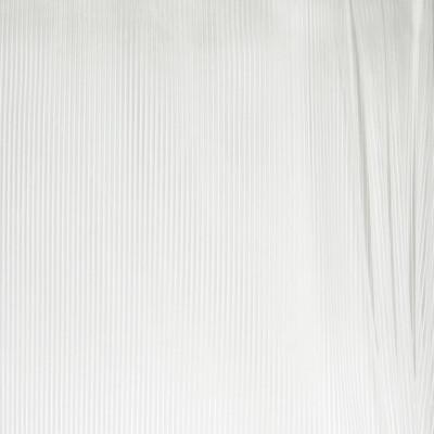 B4395 Royal Silk Fabric: D41, WINTER WHITE STRIPE SHEER, WHITE STRIPED SHEER, METALLIC WHITE SHEER,  INHERENTLY FLAME RETARDANT, INHERENTLY FIRE RETARDANT