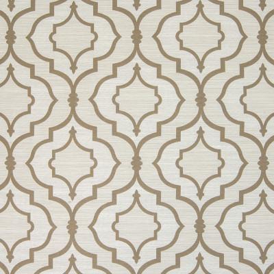 B4566 Linen Fabric: D43, MEDALLION, LATTICE, OGEE, KHAKI, WHEAT,WOVEN