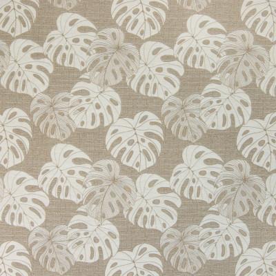 B4574 Khaki Fabric: D43, PALM LEAF, PALM LEAVES, WHEAT, BARLEY, LINEN,FOLIAGE