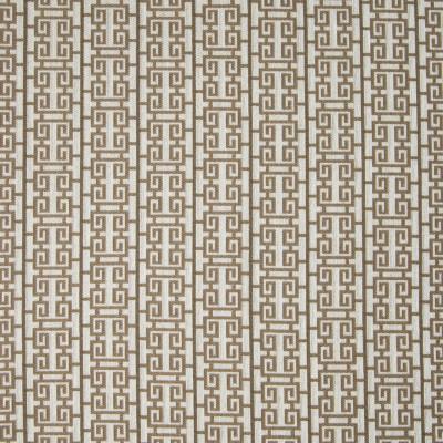 B4578 Ginger Fabric: D43, BROWN LATTICE, BROWN SCROLL, BROWN SQUARES, BROWN GEOMETRIC,WOVEN