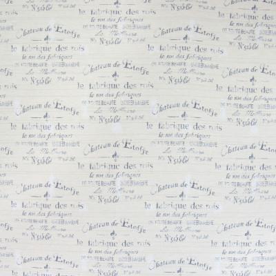 B4596 Flour Fabric: D43, SCRIPT, GRAY SCRIPT, FRENCH SCRIPT, WRITING
