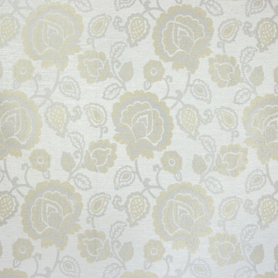 B4664 Bleach Fabric: D44, FLORAL JACQUARD, NATURAL JACQUARD, FLOWER, NEUTRAL FLORAL, SILVER AND GOLD FLORAL JACQUARD, FLORAL PATTERN