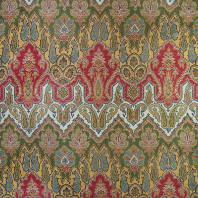 B4852 Pompei Fabric: RED MEDALLION, RED CHEVRON, RED PAISLEY PRINT