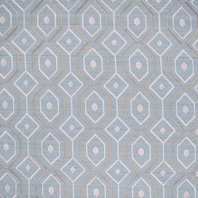 B4933 Topaz Fabric: D47, SPA BLUE GEOMETRIC EMBROIDERY, LIGHT BLUE GEOMETRIC EMBROIDERY