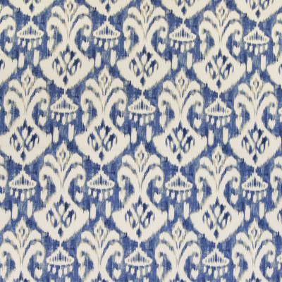 B4958 Ocean Blue Fabric: D47, BLUE IKAT, CONTEMPORARY BLUE IKAT, WATER COLOR IKAT