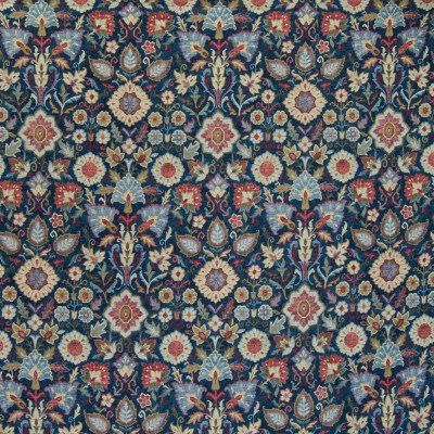 B4976 Classic Navy Fabric: E32, D47, BLUE FLORAL, BLUE MEDALLION, BLUE LEAF PRINT, SOUTHWEST PATTERN, WOVEN