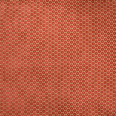 B5002 Spice Fabric: D48, RED CIRCLE, METALLIC AND RED, CIRCLE, VELVET DOT, VELVET CIRCLE, CIRCLES, POLKA DOTS, RED AND GOLD VELVET, RED AND GOLD VELVET DOT, RED AND GOLD VELVET CIRCLE,WOVEN