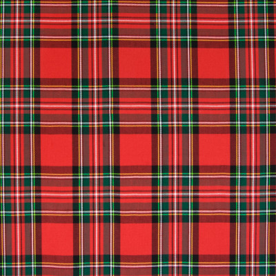 B5012 Plaid Fabric: D48, 100% COTTON, COTTON, TRADITIONAL PLAID, TRADITIONAL RED PLAD, RED AND GREEN PLAD, TARTAN PLAID,WOVEN